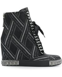 Casadei - Embellished Wedge Trainers - Lyst