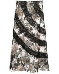 Anna Sui - Mystical Garden Embroidered Skirt - Lyst