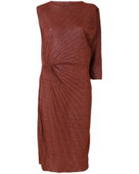 A.F.Vandevorst - Pleated Ruched Detail Dress - Lyst
