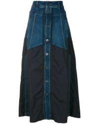 Diesel Black Gold - High-waisted Denim Skirt - Lyst
