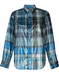 Toga - Foil Plaid Shirt - Lyst