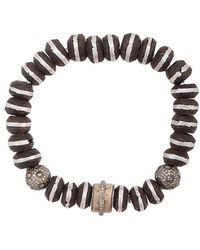 Loree Rodkin - Wood Beaded Bracelet - Lyst