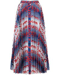 MSGM Printed Button-down Skirt