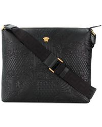 Versace - Embossed Messenger Bag - Lyst
