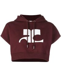 Courreges - Cropped Sl Hoodie - Lyst