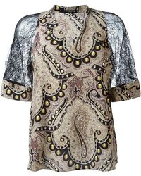 Etro   - Lace Sleeve Blouse - Women - Silk/polyamide/viscose - 40   Lyst