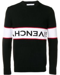 Givenchy - Upside Down Logo Band Cotton Jumper - Lyst