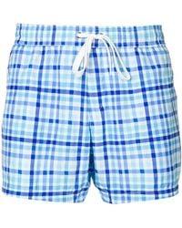Moschino - Checked Swim Shorts - Lyst