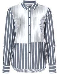 10 Crosby Derek Lam - Long Sleeve Button-down Shirt With Ruffle Detail - Lyst