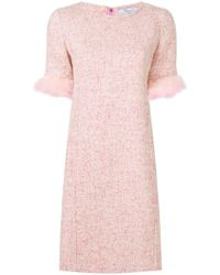 Blumarine - Feather Sleeved Dress - Lyst
