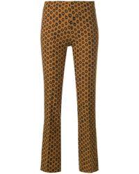 MeMe London - Mirtillo Cropped Trousers - Lyst