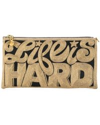 Anne Grand Clement - Embroidered Clutch Bag - Lyst