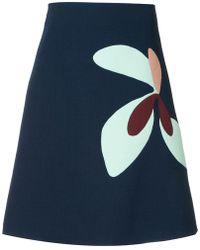 Delpozo - Floral Print A-line Skirt - Lyst