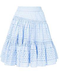 Calvin Klein - Varied Gingham Skirt - Lyst
