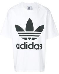 Lyst Adidas Trefoil T-Shirt in Weiß für Männer