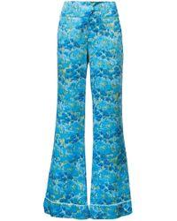 Marina Moscone - Wide Leg Pyjama Trousers - Lyst