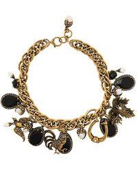 Alexander McQueen - Charm Necklace - Lyst