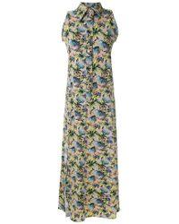 Amir Slama - Sleeveless Floral Shirt Dress - Lyst