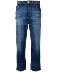 Haikure - Frayed Cropped Jeans - Lyst