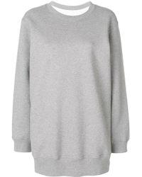 MM6 by Maison Martin Margiela - Checked Back Sweatshirt - Lyst