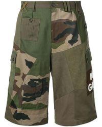 e24496cad3 Dolce & Gabbana - Camouflage Paneled Cargo Shorts - Lyst