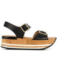 Hogan - Platform Buckle Sandals - Lyst
