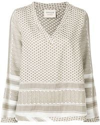 Cecilie Copenhagen - Patterned Tunic Top - Lyst