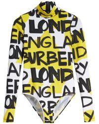 Burberry - Graffiti Print Stretch Jersey Bodysuit - Lyst