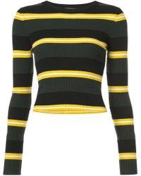 A.L.C. - Striped Knit Jumper - Lyst