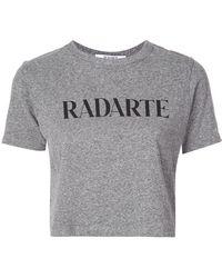 "Rodarte - Cropped-T-Shirt mit ""Radarte""-Print - Lyst"