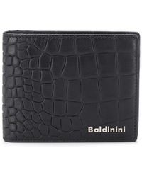 Baldinini - Crocodile Embossed Bi-fold Wallet - Lyst