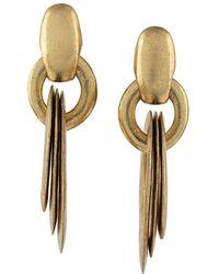 Monies - Circular Maxi Drop Earrings - Lyst