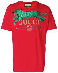 0090a170ef31 Men's Gucci T-shirts - Lyst