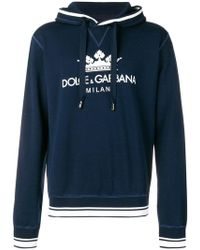 49eafa9e6883 Lyst - Dolce   Gabbana Bee   Crown Embroidered Sweatshirt in Black ...