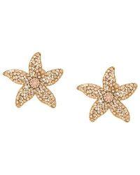 Oscar de la Renta - Crystal Embellished Starfish Earrings - Lyst