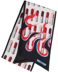 Prada - Double Match Lipstick Printed Scarf - Lyst
