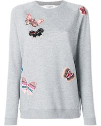 Valentino - Embroidered Butterfly Sweatshirt - Lyst