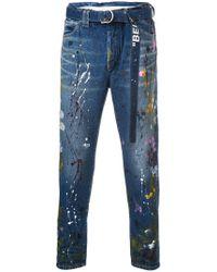 Off-White c/o Virgil Abloh - Adjustable Waist Jeans - Lyst