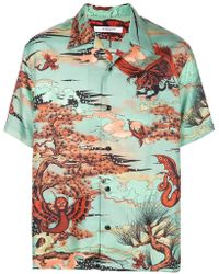 1abfd41b Givenchy - Mystical Creatures Print Shirt - Lyst