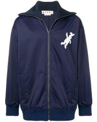 Marni - Foldover Neck Jacket - Lyst