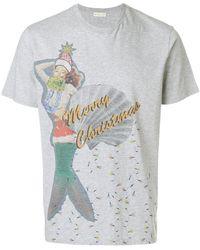 Etro - Christmas Print T-shirt - Lyst