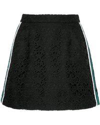 Guild Prime - Striped Guipure Star Mini Skirt - Lyst