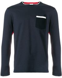 Thom Browne - Bicolor Half-and-half Long Sleeve Tee - Lyst