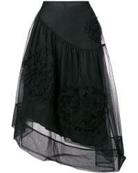 Simone Rocha - Ruched Flower Skirt - Lyst