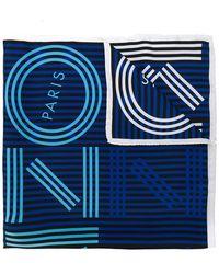 KENZO - Striped Logo Scarf - Lyst