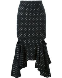 Givenchy - Fitted Peplum Skirt - Lyst