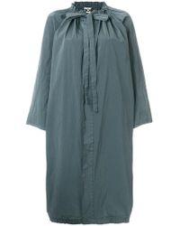 Hache - Oversized Tie Neck Coat - Lyst