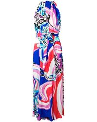 04d77e2112957 Emilio Pucci Strapless Maxi Dress in Blue - Lyst