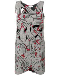 Vivetta - Embroidered Hands Playsuit - Lyst