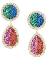 Shourouk - Shimmer Drop Earrings - Lyst